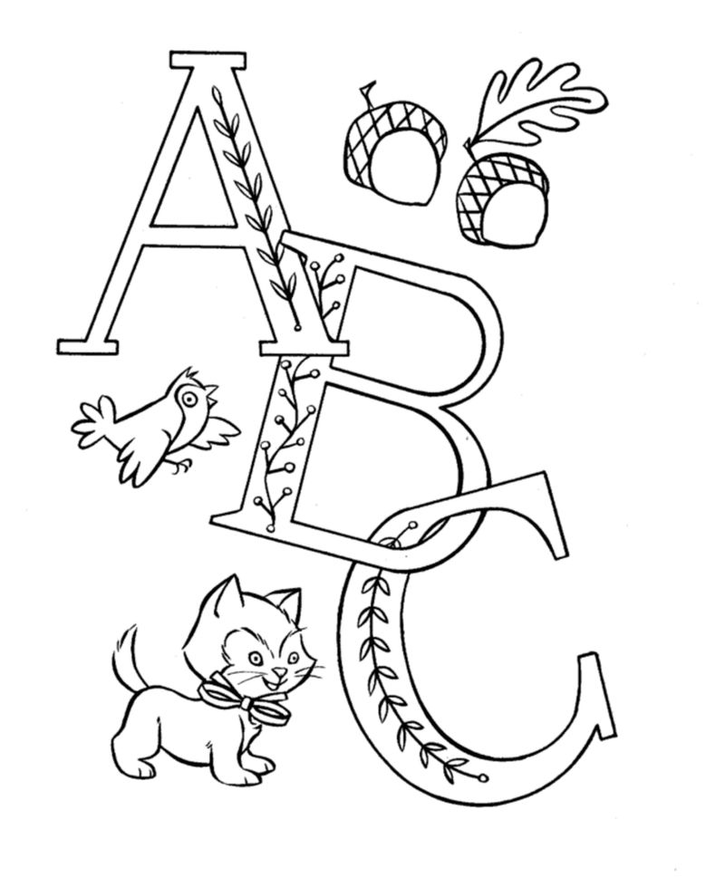 Abcs Coloring Page For Kindergarten