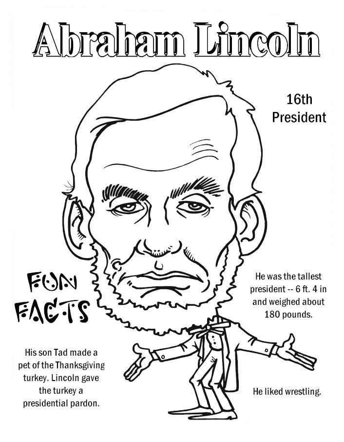 Abraham Lincoln Funfact Worksheets