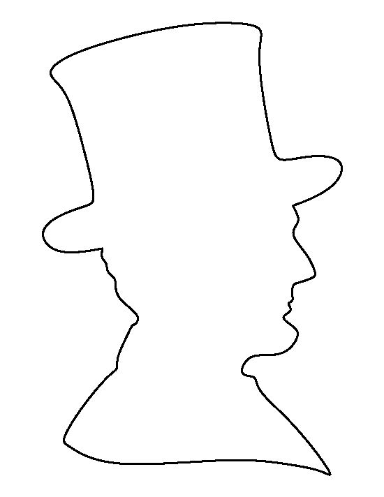 Abraham Lincoln Silhouette Worksheets