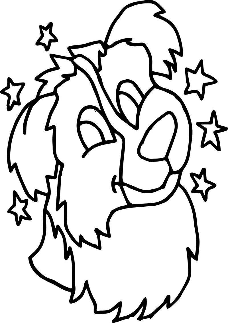 Activity Dog Coloring Page