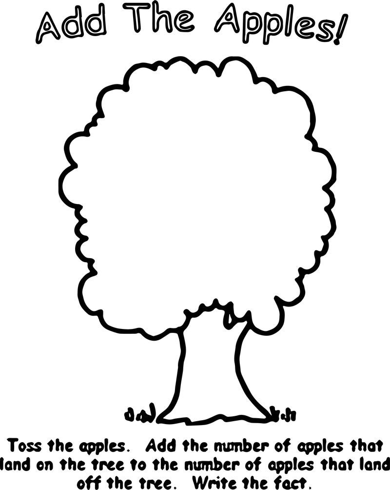 Add The Apple Tree Coloring Page