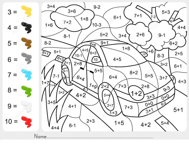 Addition And Subtraction Coloring Worksheets For 2nd Grade 001