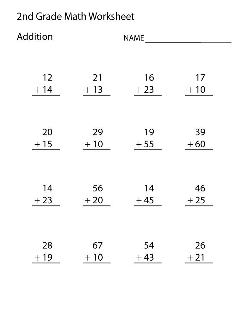 Addition Fact Worksheets For 2nd Grade 001