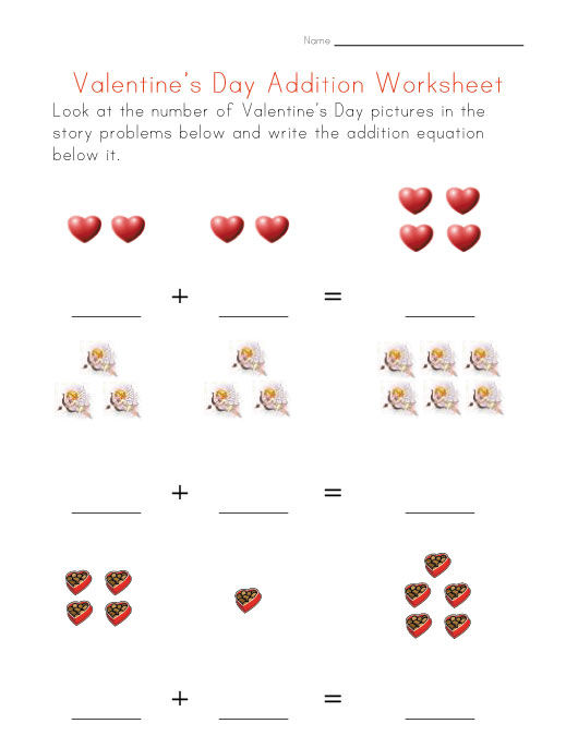Addition Worksheets With Pictures 2 001