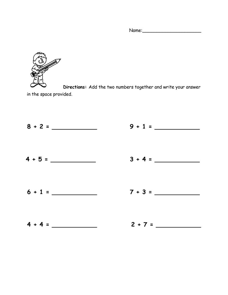 Addition Worksheets With Pictures 3 001