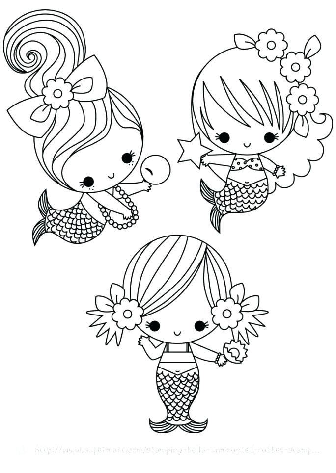 Adorable Mermaid Coloring Pages