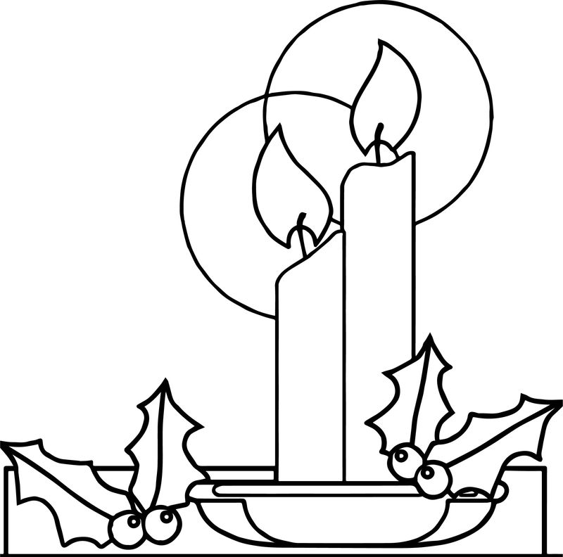 Advent Leaf Coloring Page