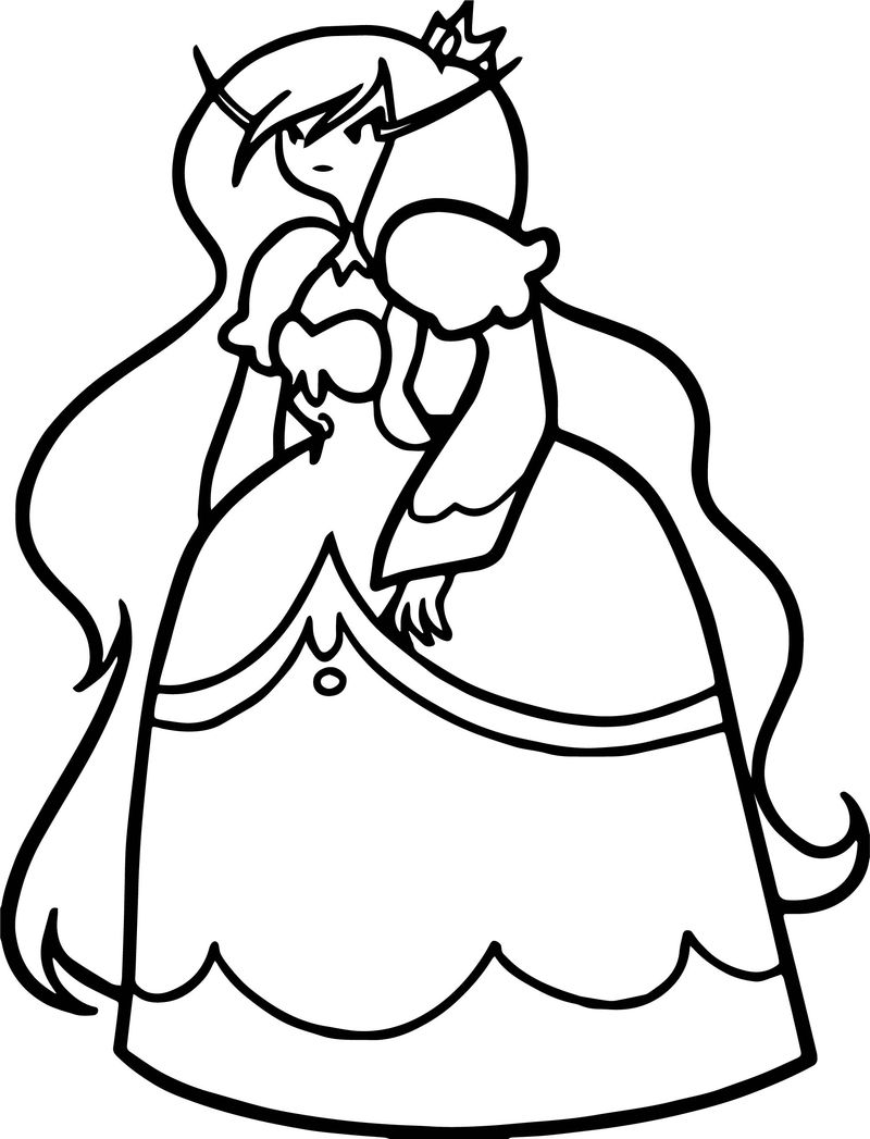 Adventure Time Angry Princess Coloring Page
