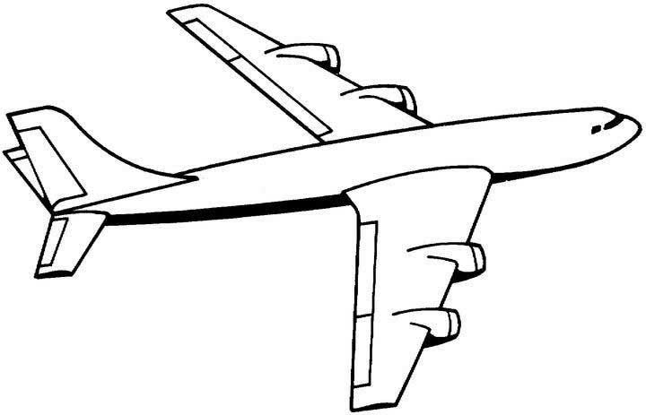 Airplane Coloring Book Pages