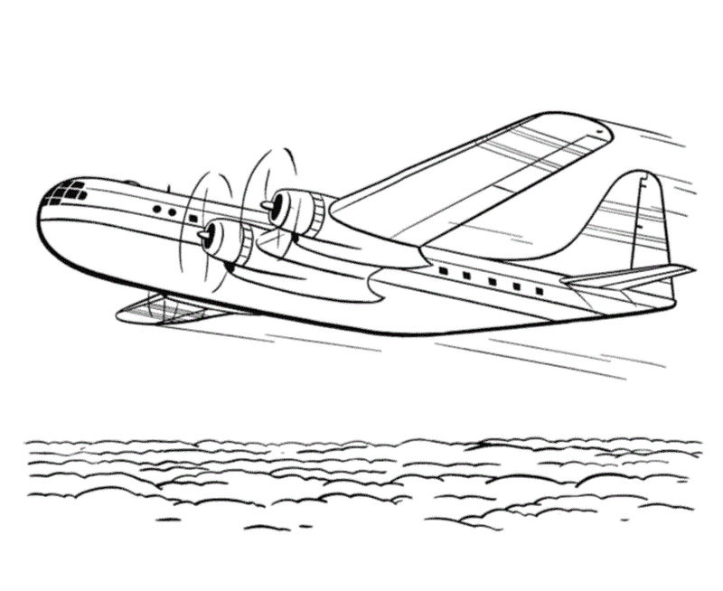 Airplane coloring page pictures