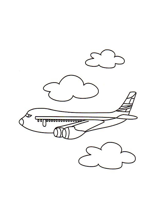 Airplane Coloring Pages Images