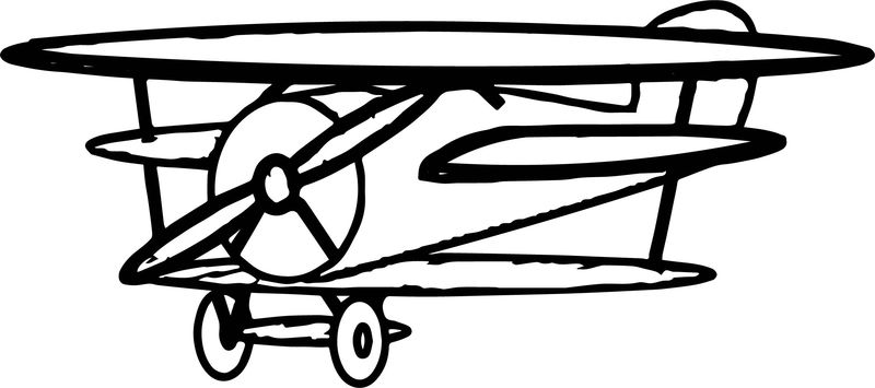 Airplane Just Coloring Page