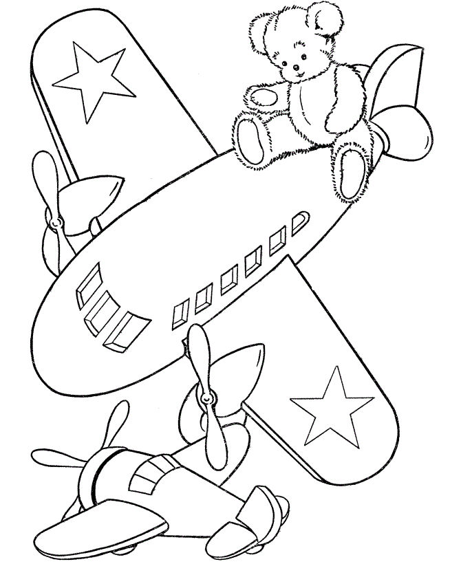 Airplane Kids Coloring Pages