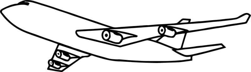 Airplane Outline Coloring Page