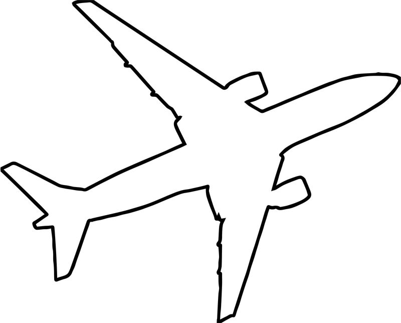 Airplane Outline Silhouette Coloring Page