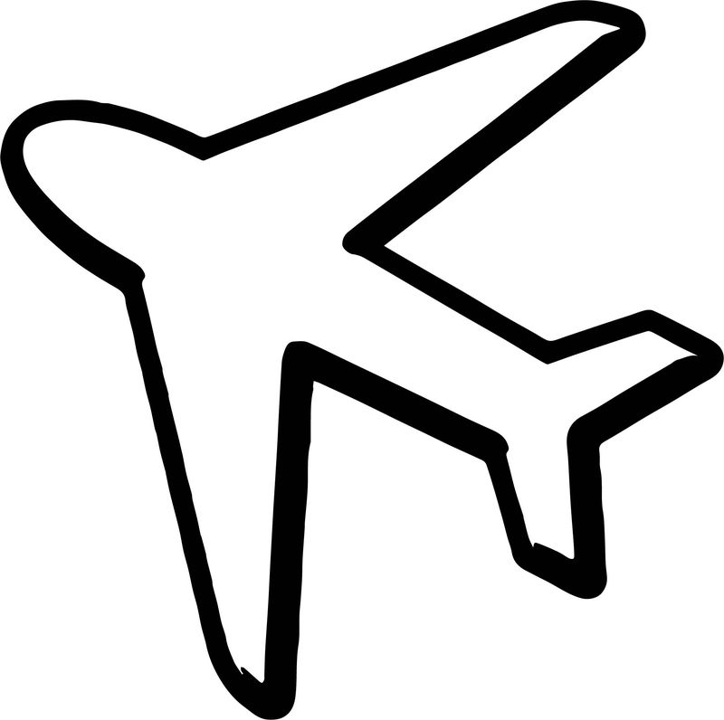 Airplane Silhouette Coloring Page