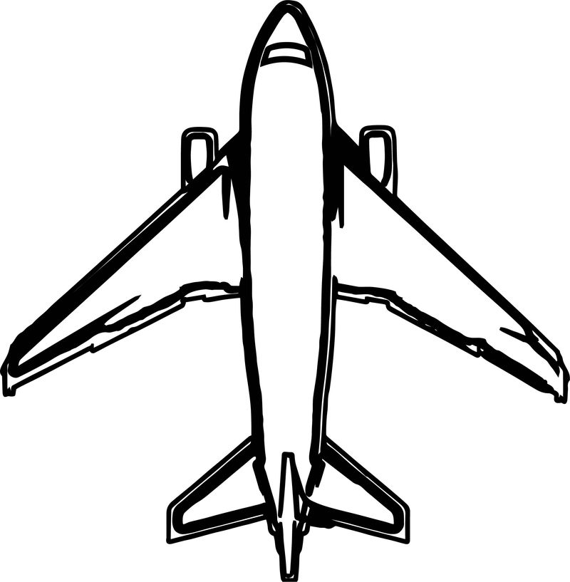 Airplane Top View Coloring Page
