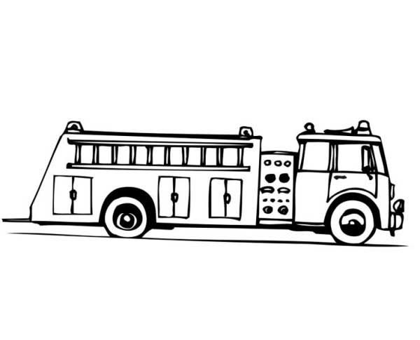 Airport Fire Truck Coloring Pages