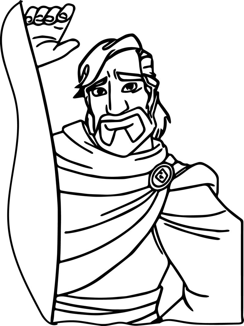 Aladdin And The King Of Thieves Waiting Coloring Page