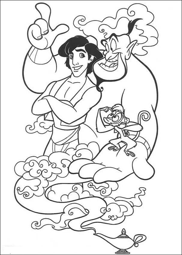 Aladdin Printable Coloring Pages