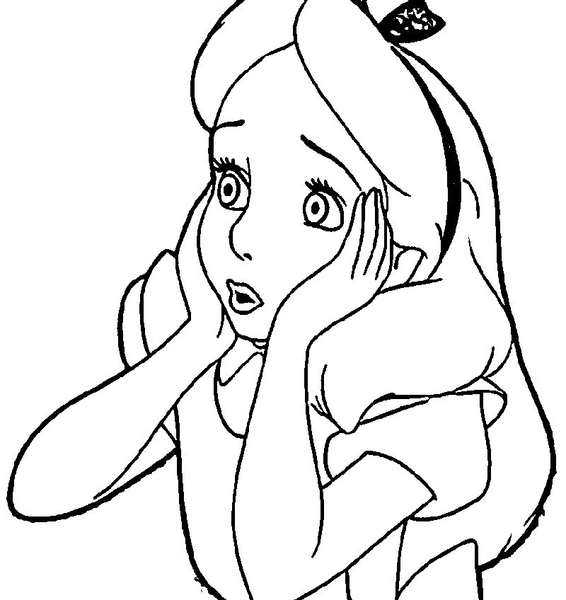 Alice In The Wonderland Coloring Page 47