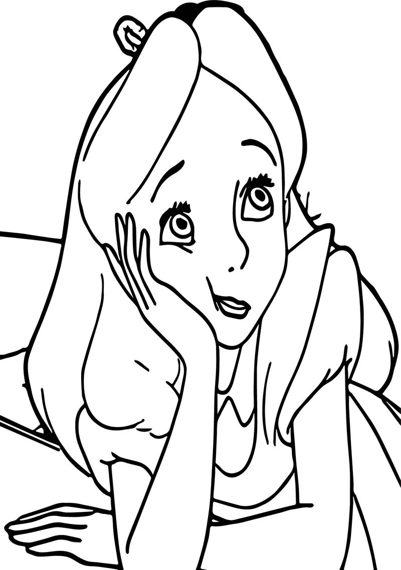 Alice In The Wonderland I Am Boring Coloring Page