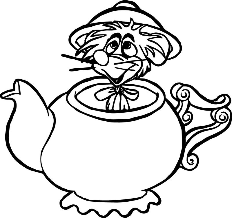 Alice In The Wonderland Mouse Coloring Pages
