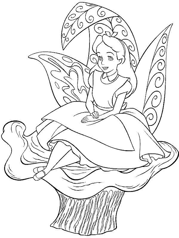 Alice In Wonderland Coloring Pages Alice