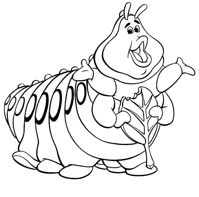 Alice In Wonderland Coloring Pages Caterpiller