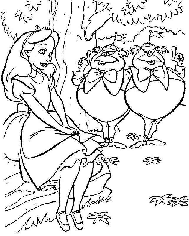 Alice In Wonderland Coloring Pages For Adul