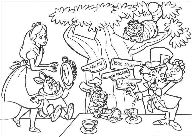 Alice In Wonderland Coloring Pages For Adults