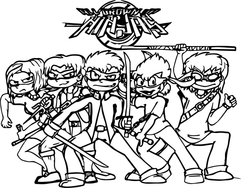 All Grown Up Ninjas Coloring Page