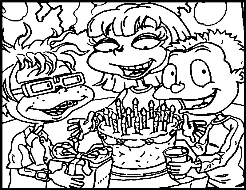 All Grown Up President Birthday Cake Coloring Page