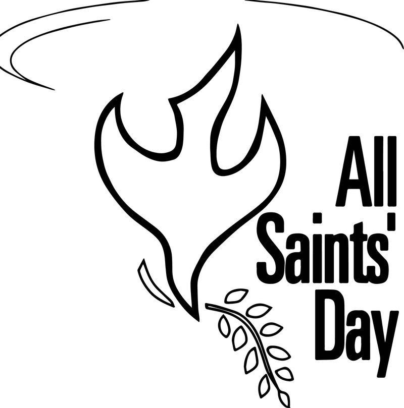 All Saint Day Bird Shape Coloring Page