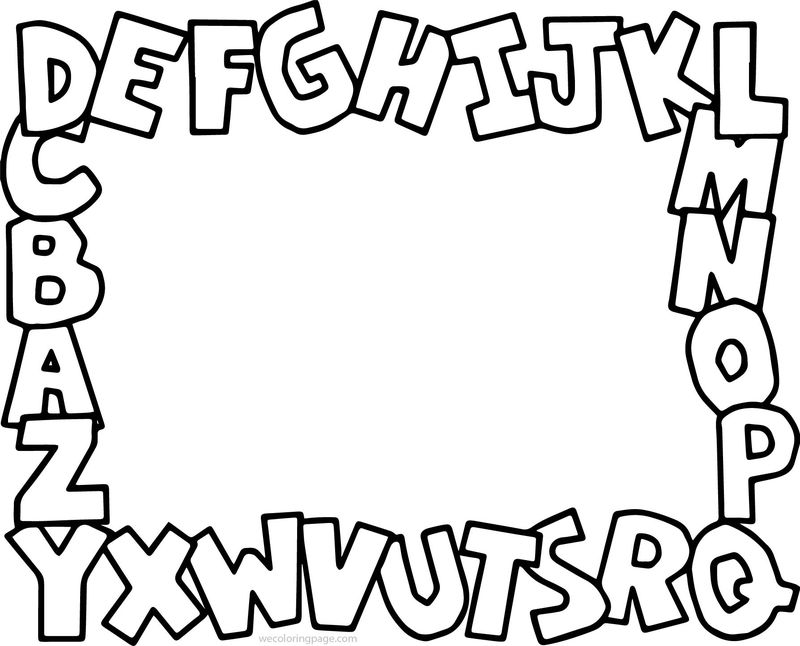 Alphabet Abc Coloring Page