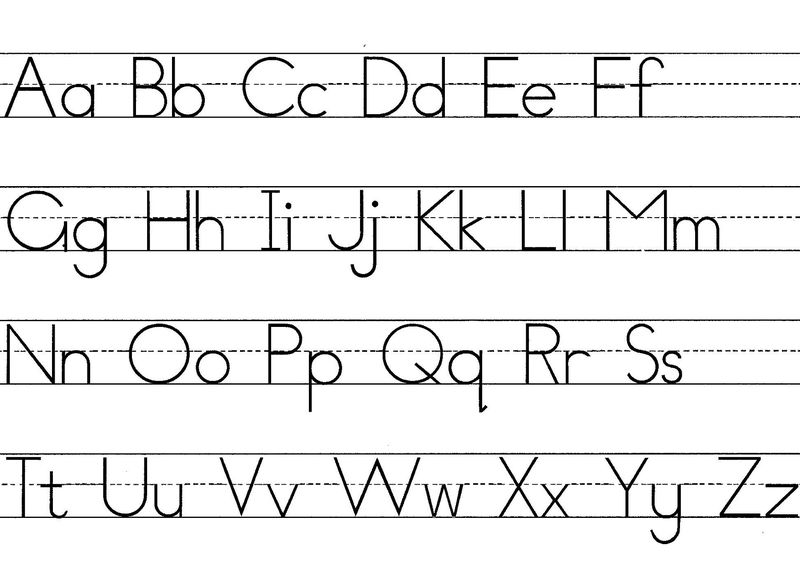 Alphabet Capital And Lowercase Letters 001