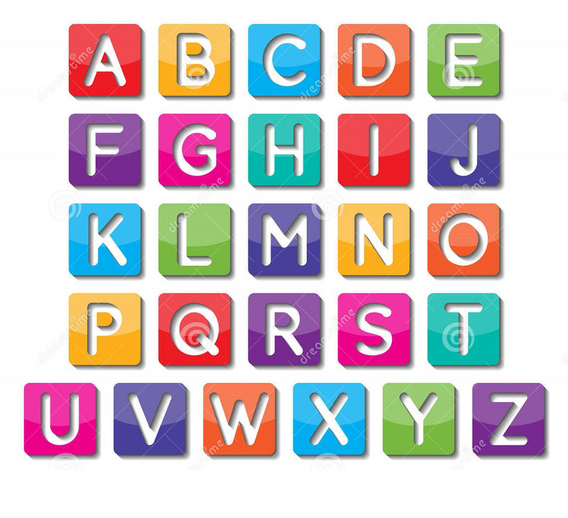 Alphabet Capital Letters Colorful