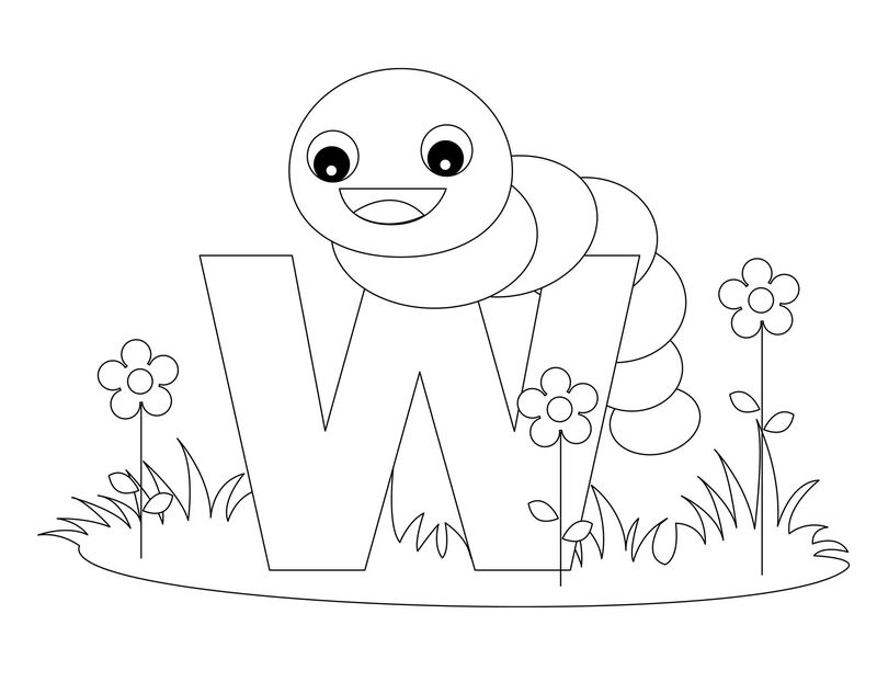 Alphabet Coloring Pages Letter W