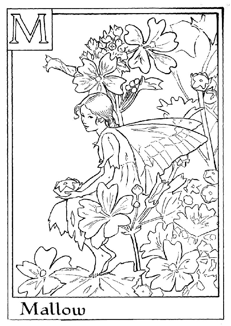 Alphabet Fairy Mallow Coloring Pages