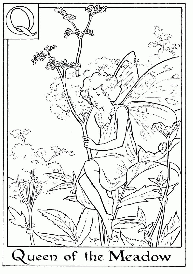 Alphabet Fairy Queen Coloring Page
