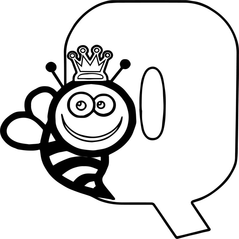 Alphabet Image Letter Q Is For Queen Bee Coloring Page