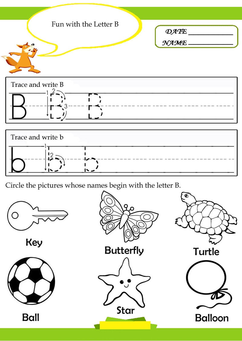 Alphabet Tracer Pages B