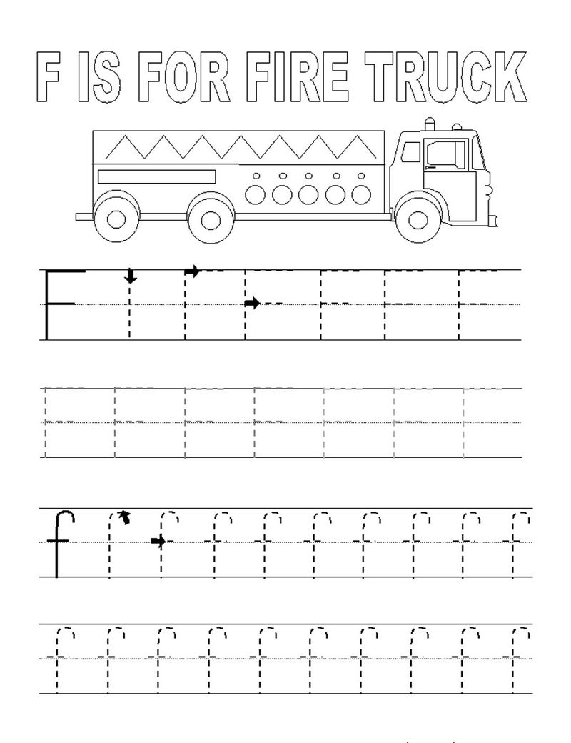 Alphabet Tracing Pages For F 001