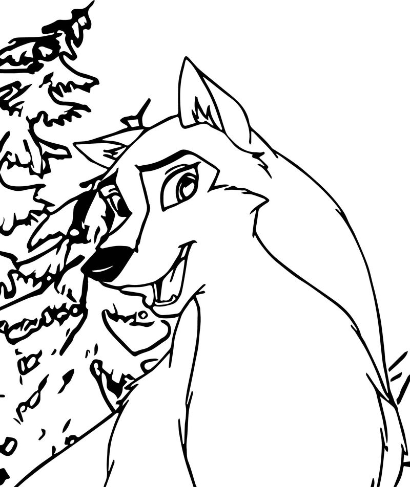 Alue Wolf Coloring Page