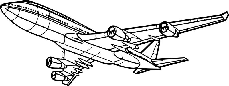 Amazing Airplane Coloring Page