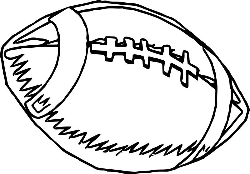 American Playing Football Ball Coloring Page