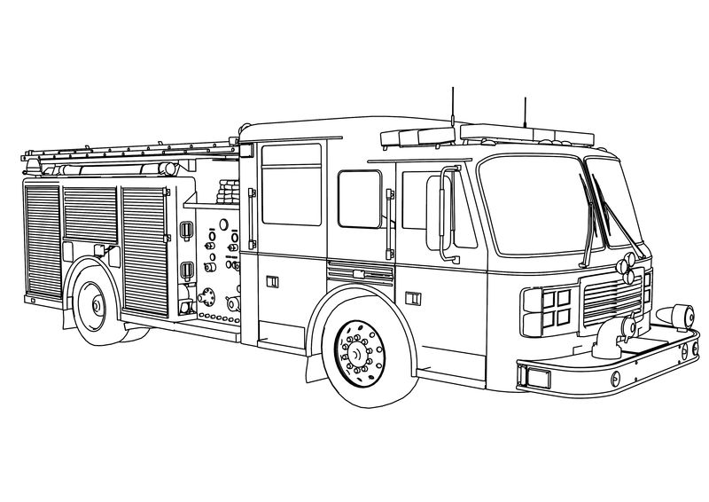 American Lafrance Fire Truck Coloring Page
