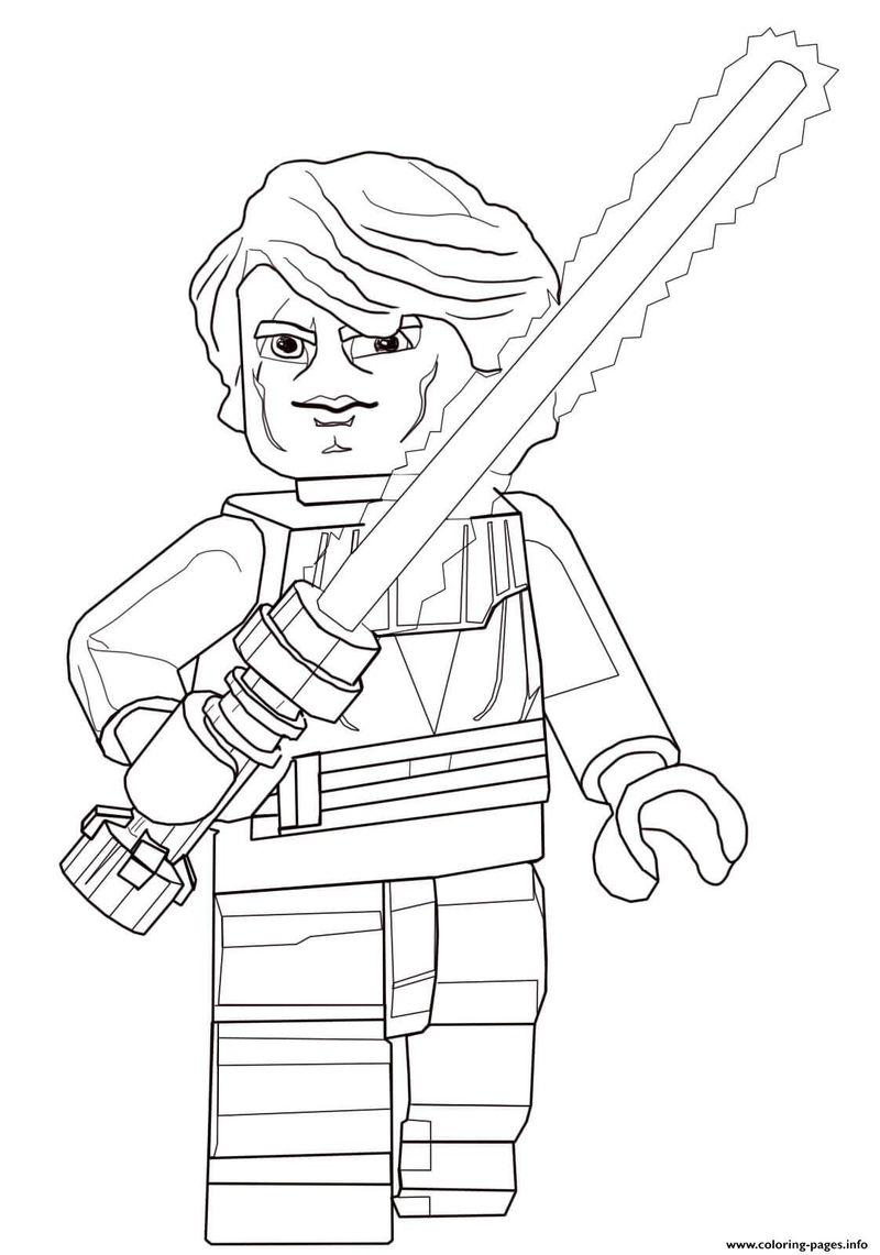 Anakin Skywalker Lego Star Wars Coloring Pages