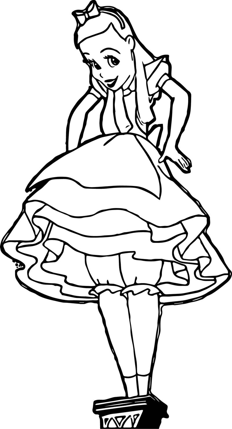 Anastasia Tremaine As Alice The Giantess Coloring Page