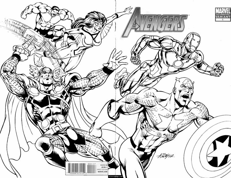 Andy Smith Art Avengers Coloring Pages